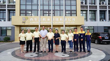 """中国建筑防水协会朱冬青秘书长高度肯定西牛皮""""产品施工两手抓"""",在行业内起到了示范和引领的作用"""